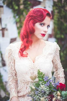 Moulin Rouge Inspired Elopement - http://fabyoubliss.com/2015/03/05/romantic-moulin-rouge-inspired-elopement