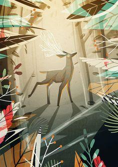 dewizka: Ilustracja jeleń