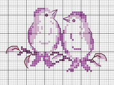 Free Cross Stitch Pattern - Birds