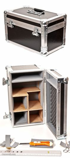 self made flight case - Bench With Storage, Tool Storage, Diy Pallet Projects, Wood Projects, Tattoo Studio, Flight Case, Road Cases, Campaign Furniture, Workshop Organization