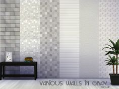 The Sims 4 : Various walls in gray by Paogae @ The Sims Resource