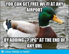 not sure if it's true, but i'll definitely try it next time i'm in an airport! #lifehacks #freewifi