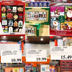 """56ba92820c0 COSTCO DEALS on Instagram  """"🎄🎅🏻 From  handmade  gifttags to handcrafted   Christmascards  costco has the best deal on  Christmas  cards and tags! So  cheap ..."""