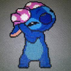 Stitch perler beads by wisebeadz Easy Perler Bead Patterns, Perler Bead Templates, Perler Bead Disney, Perler Bead Art, Crochet Border Patterns, Cross Stitch Patterns, Pearler Beads, Fuse Beads, Pixel Art