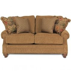 GALS Russet Loveseat | Gallery Furniture - Houston, TX