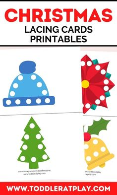 These Christmas Lacing Cards Printables are super fun! Use a hole punch to make holes on the white circles and then use a shoelace or string to weave through the colorful, vibrant picture. Great for… More