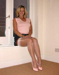 Longleg matures in nylons