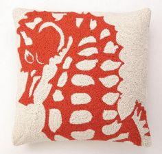 Orange Seahorse Hook Pillow