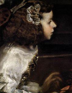 Diego Rodriguez De Silva y Velázquez 1599 - 1660, Las Meninas (detail) 1656 - 1657, Museo del Prado, Madrid, Spain