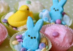 Easter Cotton Candy Cups