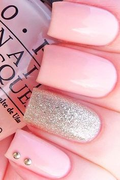Cute Light Pink Nails picture 3