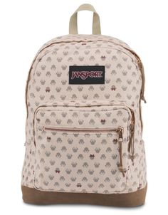 We love the neutral color of this Minnie Mouse print on a signature JanSport  style. f922bbccb2de3