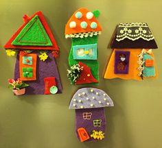 keçe, keçe ev, keçe magnet, sipariş, felt, feltro, felt magnet, design, hand made