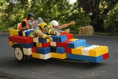 Lego-looking Soapbox Derby Car . Soap Box Derby Cars, Soap Box Cars, Diy Soap Box, Soap Boxes, Wagon Floats, Lego Soap, Pinewood Derby Cars, Pedal Cars, Diy Car