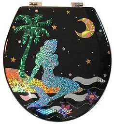 Mermaid Toilet Seat Design.