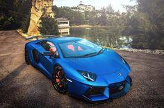 Matte Blue DMC Lamborghini Aventador   automotive99.com