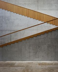 concrete wooden stair