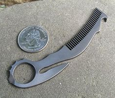 John Gray Knives - Small Titanium Tactical EDC KeyChain - Karambit Bottle Opener/Beard Comb - Made in The USA - Natural Finish Billet Proof Designs http://www.amazon.com/dp/B00NMSKEPI/ref=cm_sw_r_pi_dp_7u4evb0VWHMCE