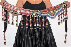 Tribal beltTribal fusion ATS gypsy belly dance beltTribal