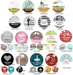 Choose a Themed Label for your Personalized Elite Design Glass Candy Jars