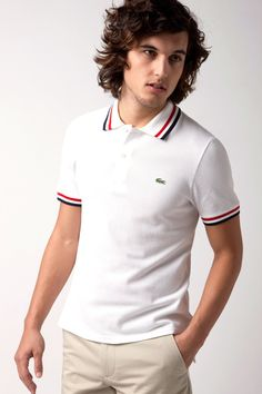 Jeffrey Short Sleeve Polo with Tipping from Lacoste