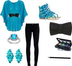 feelin blue!, created by mkc98 on Polyvore