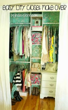 Easy DIY Closet Make Over This Is Really Cheap, Affordable, And Beautifulu2026