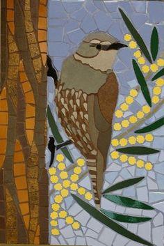 Australian native birds mosaic mural set created in ceramic tiles by Brett Campbell #3