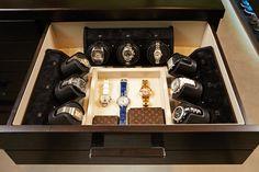 Custom watch winder drawer.
