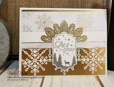 cards made from Year Of Cheer Specialty Designer Series Paper stampin up Homemade Christmas Cards, Stampin Up Christmas, Homemade Cards, Handmade Christmas, Snowflake Cards, Christmas Snowflakes, Christmas 2017, Winter Cards, Pretty Cards