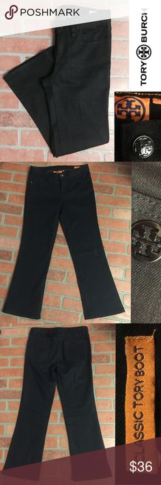 """TORY BURCH AUTHENTIC pair of black jeans TORY BURCH AUTHENTIC pair of black jeans, like new condition~ excellent!  Approx 25"""" inseam.      ➡️PURCHASE ME & GET A 🎉SALE ITEM ($10 or Less) FREE!  One sale item per purchase, upon request through """"comment"""" button """"@beananomaly"""". Tory Burch Jeans Boot Cut"""