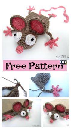 Crochet Mouse Bookmark - Free Pattern #freepattern