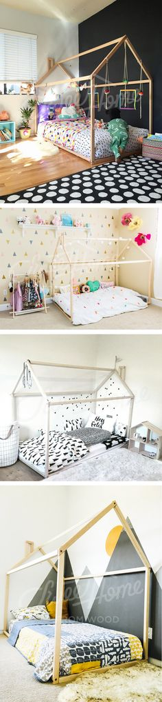 Toddler bed, house bed, tent bed, children bed, wooden house, wood house, wood nursery, kids teepee bed, wood bed frame, wood house bed