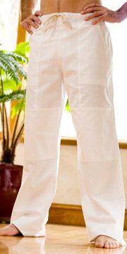 Reinforced Men's Cotton Kundalini Pants