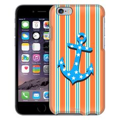 Apple iPhone 6 Blue Star Anchor on Orange Stripes Case from Trek Cases Anchor Phone Cases, Yellow Stripes, Apple Iphone 6, Messages, Orange, Trek, Products, Black, Colorful