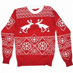 Pooping Moose Adult Ugly Christmas Sweater - 338710 | trendyhalloween.com