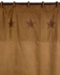 Luxury  Star Shower Curtain with coordinating Rings