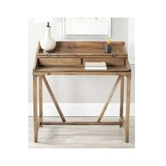 Computer-Writing-Desk-Rustic-Wood-Furniture-Home-Office-Storage-Cabinet-Table