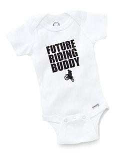 Future Riding Buddy Onesie Baby Shower Gift Motorcycle Moto x Racing Motocross | eBay