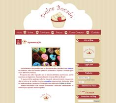 Encomenda Entregue Blog Dolce Bocado - Cantinho do blog Layouts e Templates para Blogger