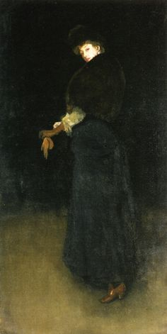 Arrangement in Black: The Lady in the Yellow Buskin (James Abbott McNeill Whistler - 1883)