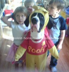 Dog Pooh Costume: Every year, we take our children camping for Halloween.  The campground has a Halloween contest and trick or treating and all kinds of fun things to do.