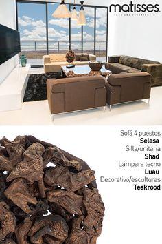 Experiencia Matisses: Los espacios sociales del hogar, como el living, pueden tener acabados en tonos cálidos combinados con otros más oscuros como el marrón.