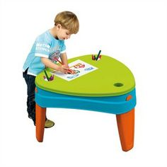 The Play Island Table has two play areas and sand and water toys to keep little ones entertained. Use the cover to create a solid play space for drawing that can be wiped clean. http://www.sensoryedge.com/play-island-table.html