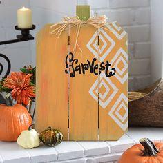 Harvest Pumpkin Wood Easel | Kirklands