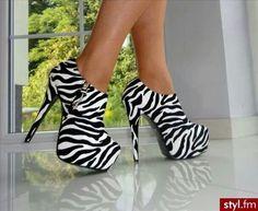 Zebra booties