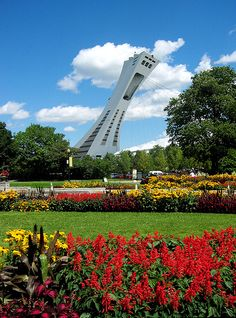Botanical Gardens in Montreal Canada, and part of Biodome Olympic Stadium in background. Montreal Botanical Garden, Botanical Gardens, O Canada, Canada Travel, Places To See, Places Ive Been, French Lifestyle, Laval, Great Vacations