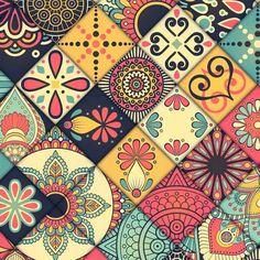 Islamic Art Pattern, Arabic Pattern, Paper Napkins For Decoupage, Decoupage Vintage, Horse Wallpaper, Pattern Wallpaper, Tile Patterns, Pattern Art, Tile Art