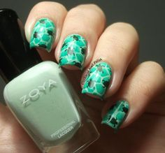 The Clockwise Nail PolishSunday Stamping Challenge: Shadow or Double Stamping