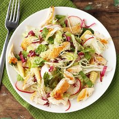 This chicken salad is ready in 20 minutes and is under 200 calories! More healthy recipes: http://www.bhg.com/recipes/healthy/quick-and-healthy-salad-recipes/?socsrc=bhgpin011214sesamechickensalad&page=14